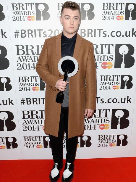 Sam Smith at the BRIT Award 2014 nominations party