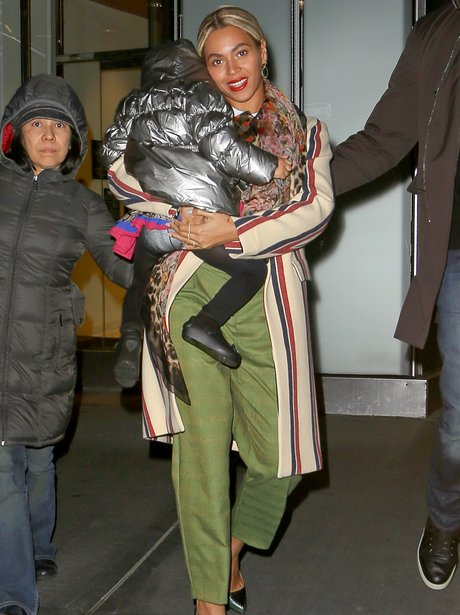 Beyonce and Blue Ivy in New York