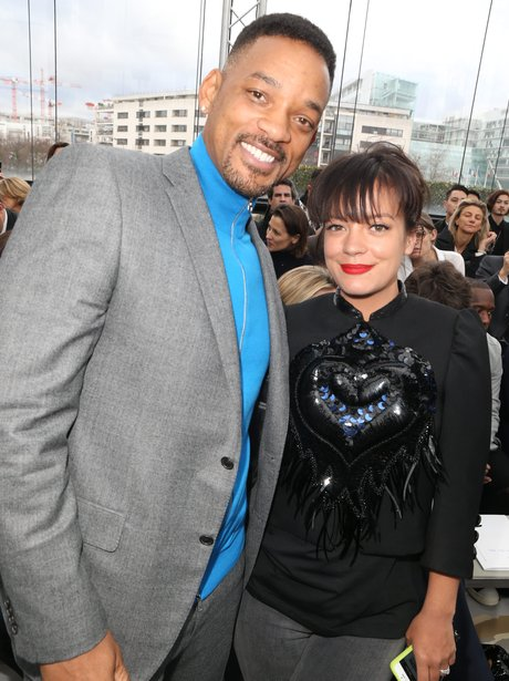 Lily Allen and Will Smith Paris fashion week