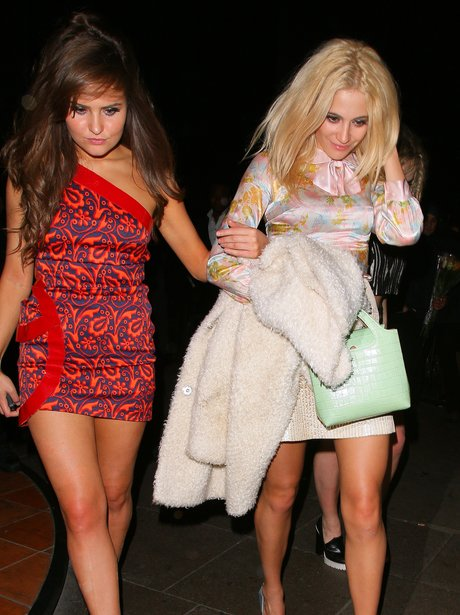 Pixie Lott on a night out in London