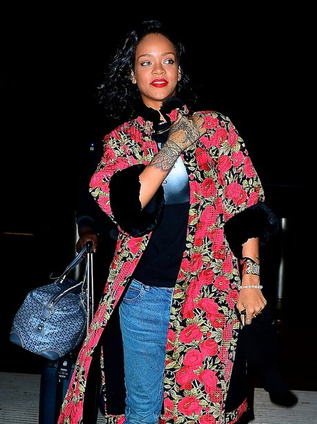 Rihanna shows off her new tattoos