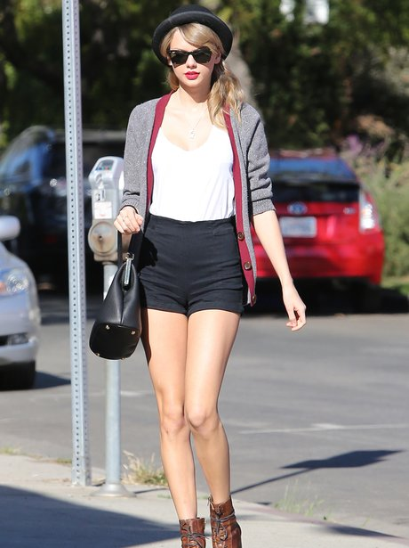 Taylor Swift wearing shorts