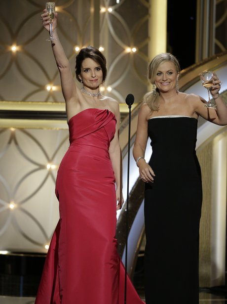 Tina Fey and Amy Poehler at the Golden Globe