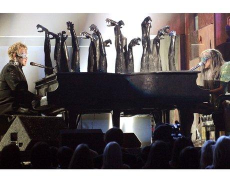 Elton John and Lady Gaga Grammys 2010