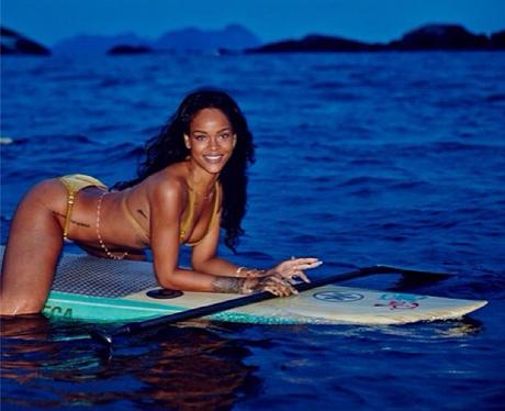 Rihanna Surfing instagram