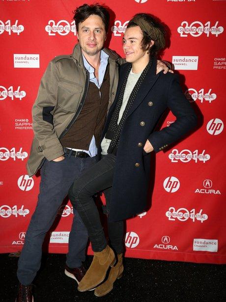 Zach Braff and Harry Styles premiere