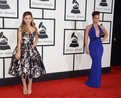 Ariana Grande and Alicia Keys at the Grammy Awards