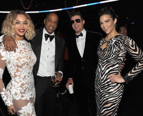 Beyonce, Jay-Z, Robin Thicke and Paula Patton