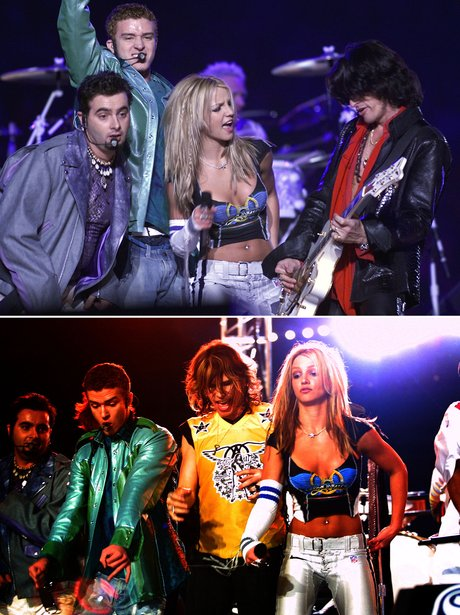 Britney Spears and NSync Super Bowl 2001