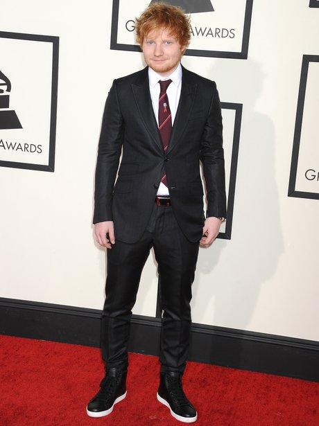 Ed Sheeran at the Grammy Awards 2014