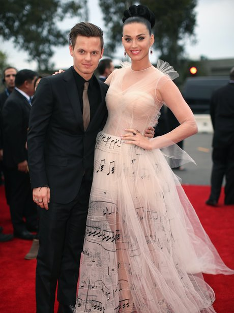 Katy Perry and David Hudson at the Grammy Awards