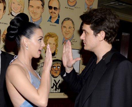 Katy Perry (L) and John Mayer