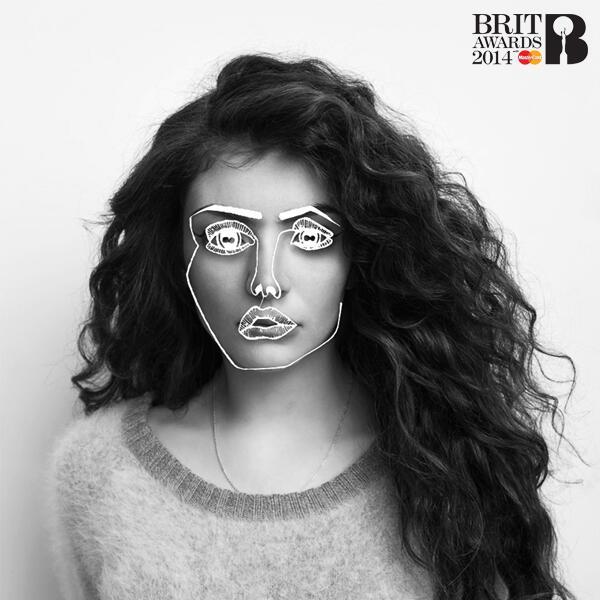 Lorde BRIT Awards 2014 Promo Image
