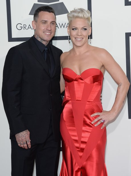Pink and Carey Hart at the Grammy Awards 2014