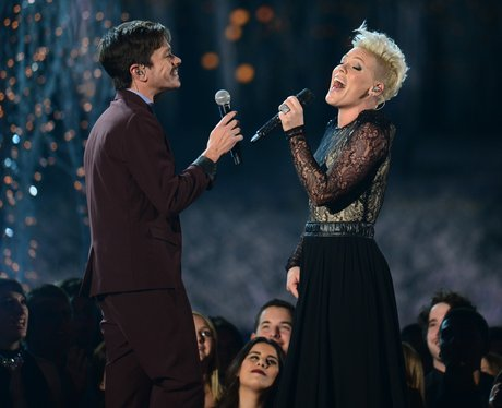 Pink and Nate Ruess live at the Grammy Awards