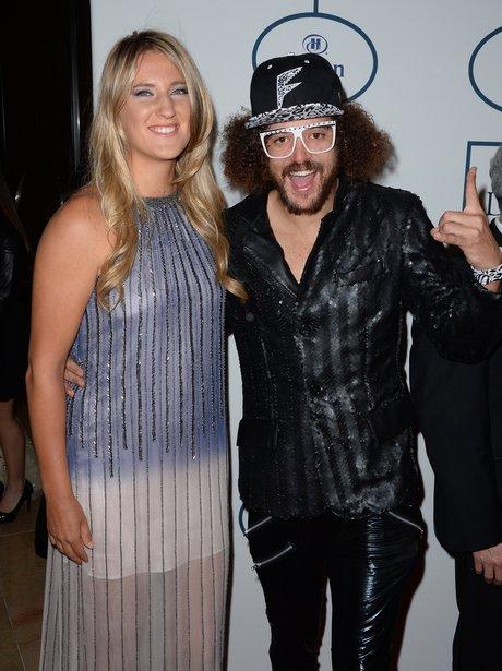 Redfoo And Victoria Azarenka Pre-Grammy Awards 201