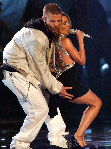 Kylie Minogue and Justin Timberlake at the BRITs 2003