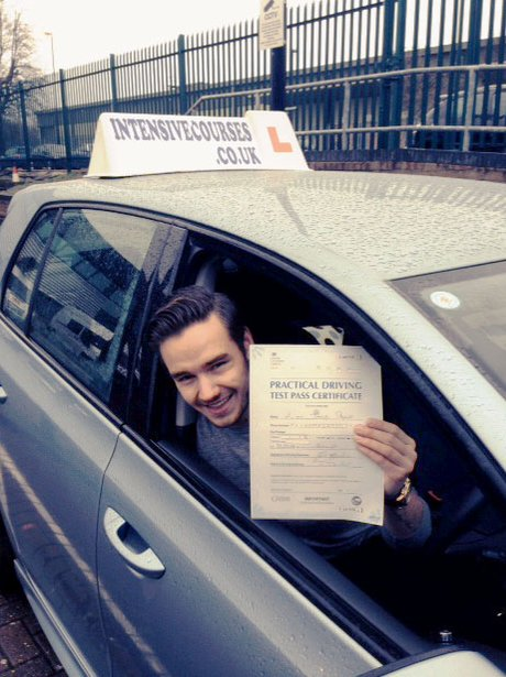 Liam Payne passes his driving test