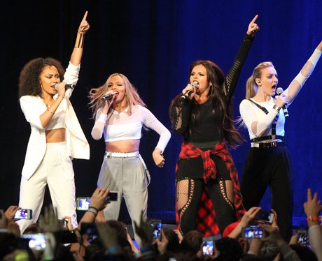 Llittle Mix perform in Times Square