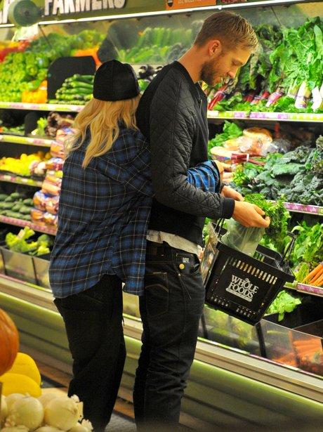 Rita Ora and Calvin Harris PDA when out shopping