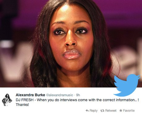 Alexandra Burke Twitter Highlights
