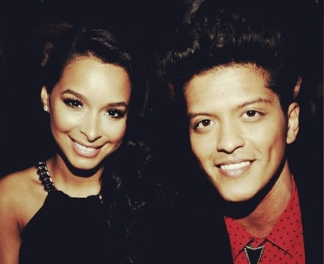 Bruno Mars and his girlfriend  Jessica Caban