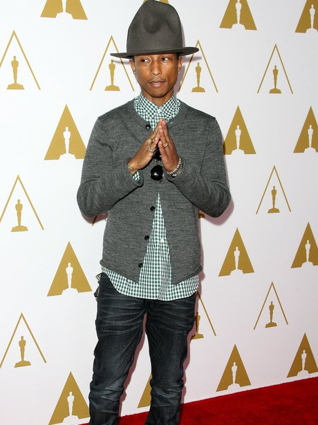 Pharrell at Oscars luncheon event