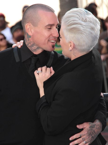 Pink and Carey Hart at a film premiere