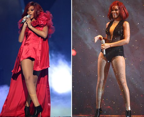 Rihanna performs at the BRITS 2011