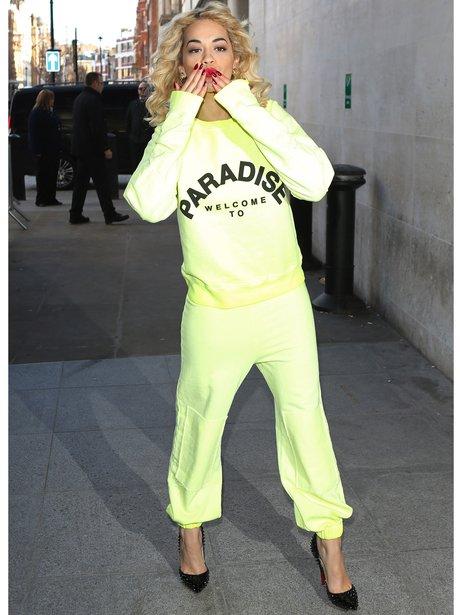 Rita Ora Tracksuit and Heals