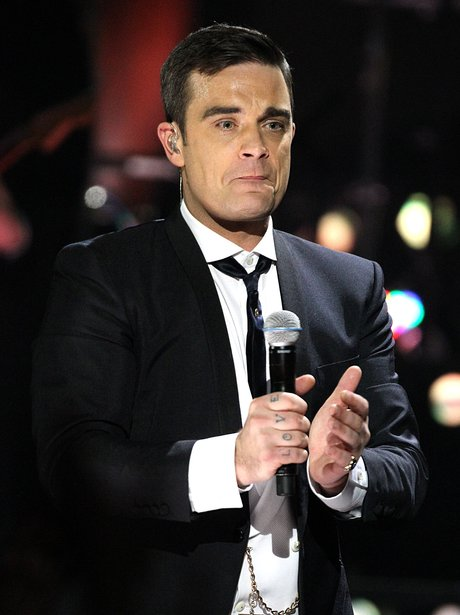 Robbie Williams at the BRITs 2010