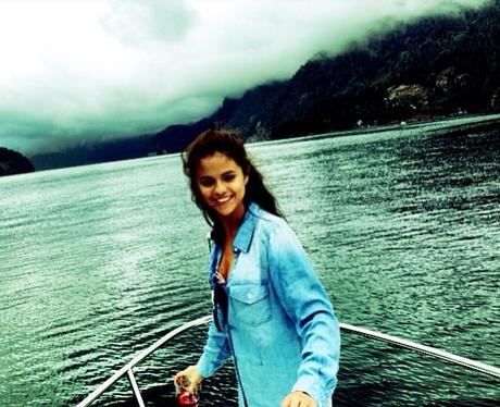 Selena Gomez in a lake
