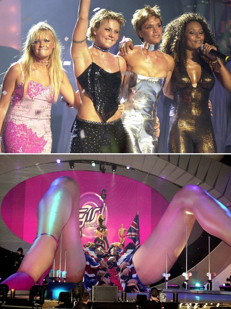 Spice Girls and Geri Halliwell at the BRITs 2000