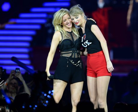 Taylor Swift and Ellie Goulding on stage