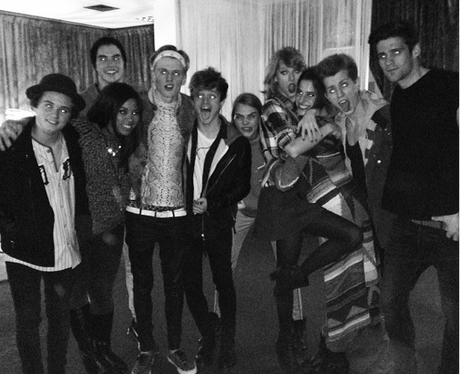 The Vamps, Cara Delevigne and Taylor Swift