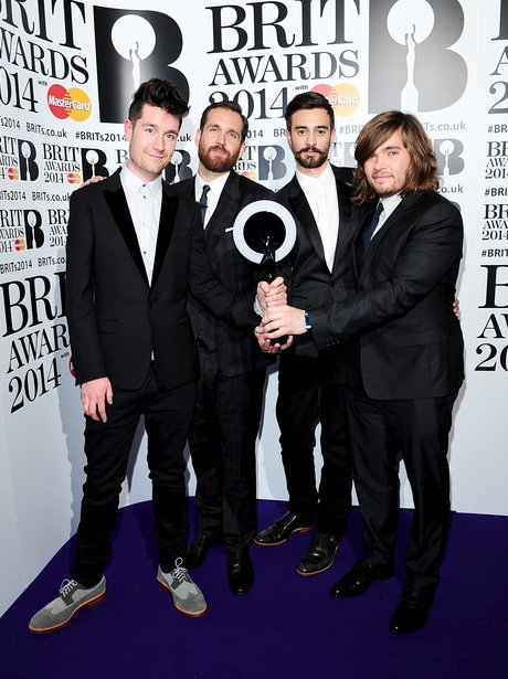 Bastile BRIT Awards 2014 Backstage