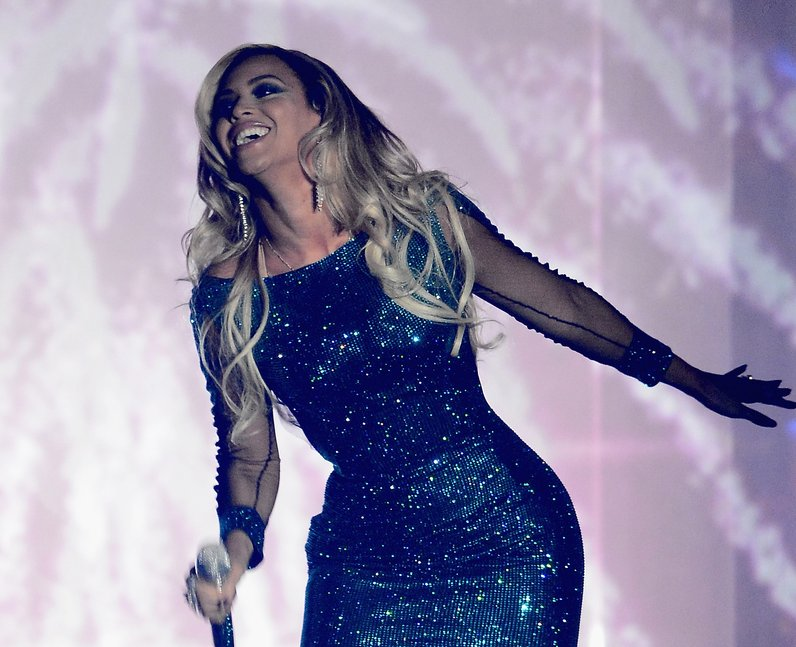 Beyonce at the Brit Awards 2014