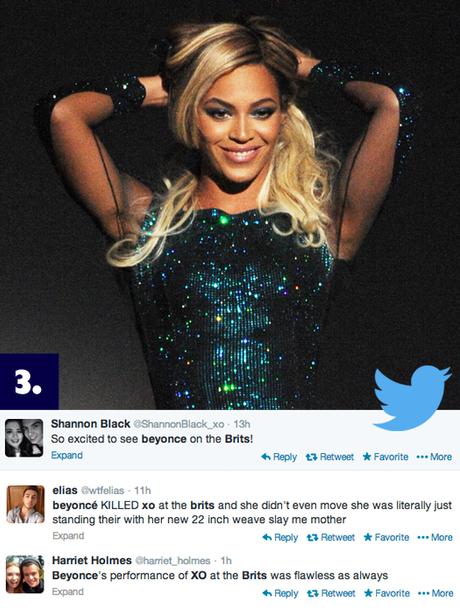 Beyonce singing XO at the BRIT Awards 2014