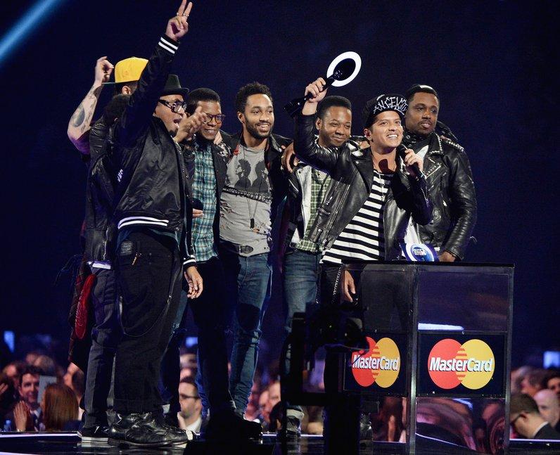 Bruno Mars winner at the Brit Awards 2014