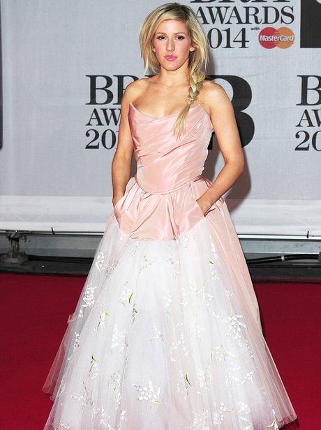 Ellie Goulding at the Brit Awards 2014