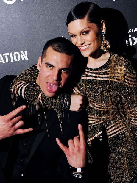 Emil Nava and Jessie J at the Brit Awards Party