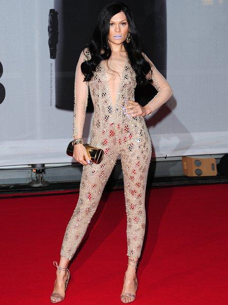 Jessie J BRIT Awards Red Carpet 2014