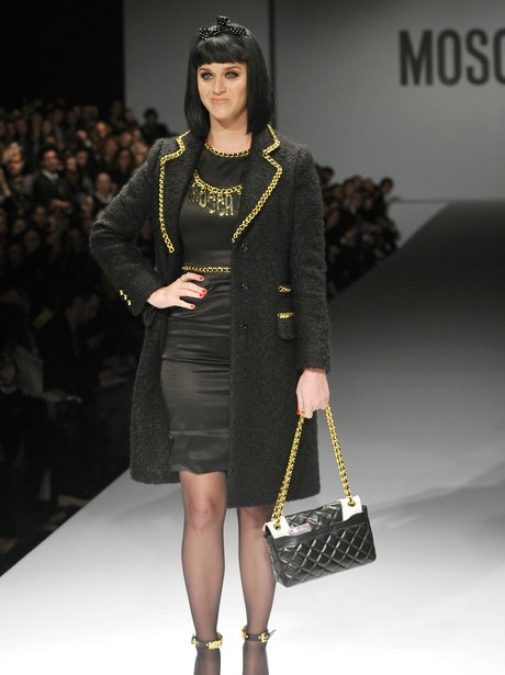Katy Perry on the catwalk at Milan Fashion week