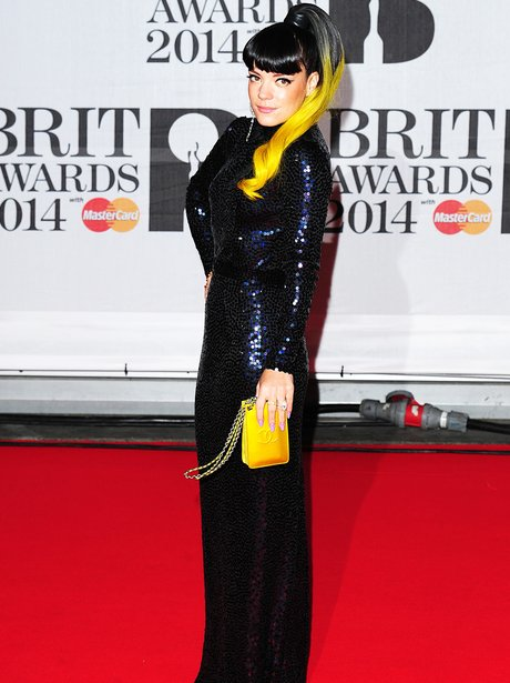 Lily Allen at the Brit Awards 2014
