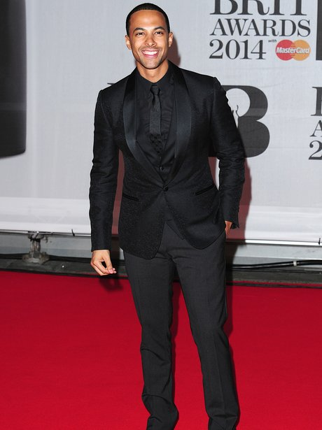 Marvin Humes BRIT Awards 2014 Red Carpe
