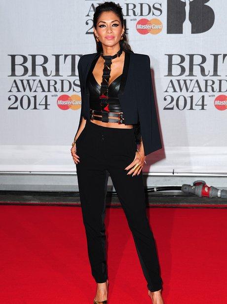 Nicole Scherzinger BRIT Awards 2014 Red Carpet