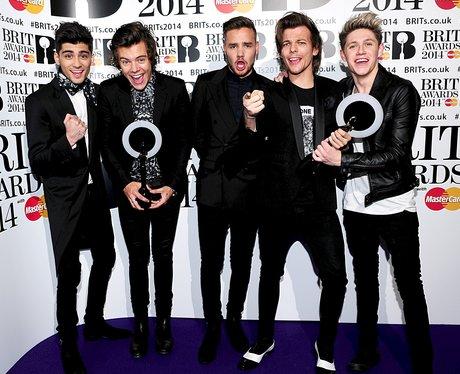 One Direction BRIT Awards 2014 Backstage