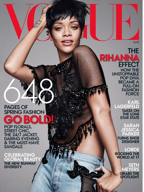 Rihanna covers Vogue Magazine