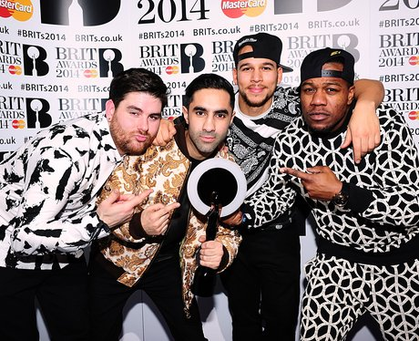 Rudimental BRIT Awards 2014 Backstage