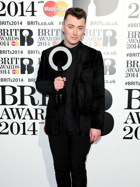 Sam Smith at the Brit Awards 2014